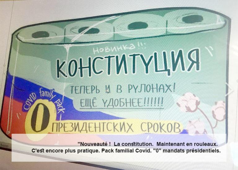 Les amendements constitutionnels. Pour mes amis en dehors de la Russie